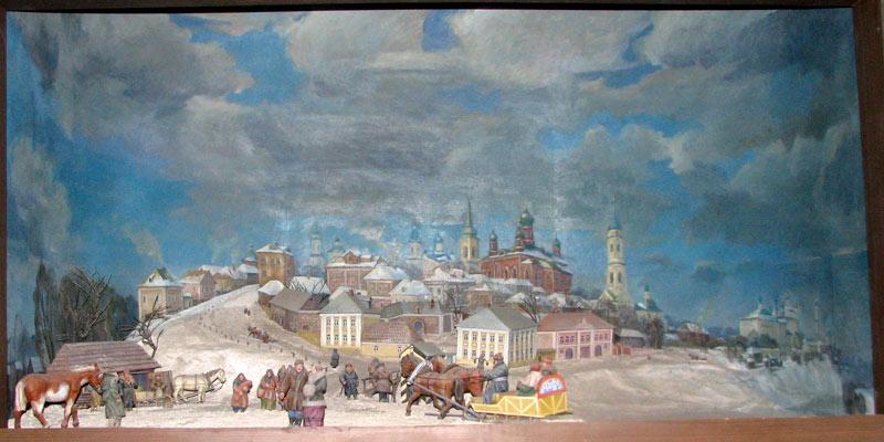 Белёв. Краеведческий музей. Диарама Белёва