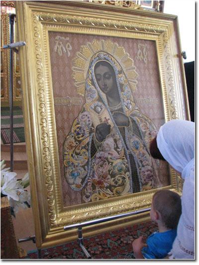 Калужская икона Богоматери в Козельске