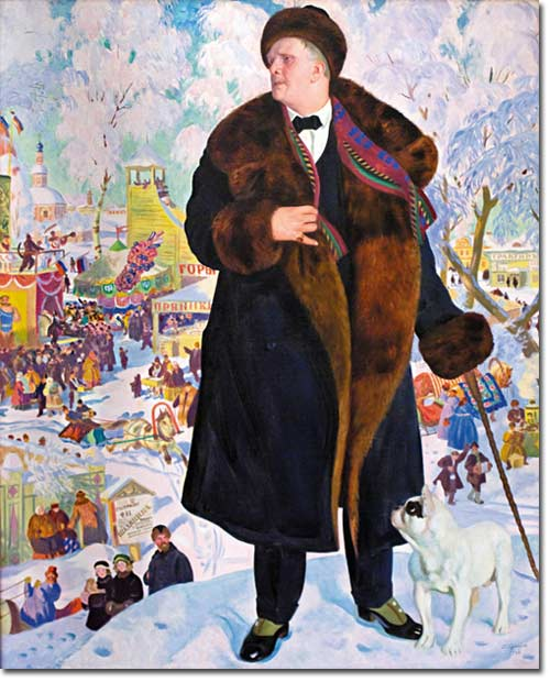 Б. Кустодиев. Портрет Шаляпина