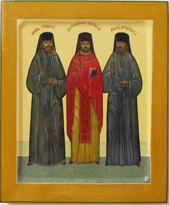 Оптинские новомученики икона
