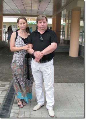 Козельск. Сергей Киселёв с дочерью
